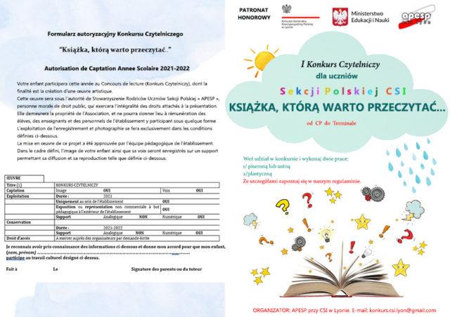 informacje o konkursie czytelniczym